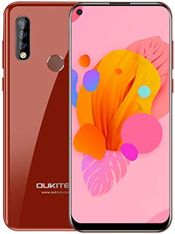 Unlocked Smartphone OUKITEL C17 Pro, 6.35 Inch HD+ Full Screen, 64GB + 4GB RAM, Global 4G LTE Cell Phones, Dual SIM, 3900 mAh Battery, Triple Camera, Android 9.0 Mobile Phone, Face ID, Type-C - Red