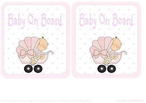 Bebé a bordo coche señal de chica en carrito de Audrey Rae ...