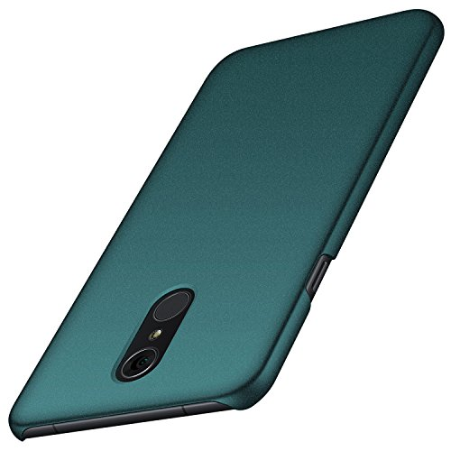 Anccer LG Q7 Case, LG Q7 Plus Case, LG Q7 Alpha Case, [Colorful Series] [Ultra-Thin] [Anti-Drop] Premium Material Slim Cover for LG Q7 / LG Q7 Plus/LG Q7 Alpha (Gravel Green)