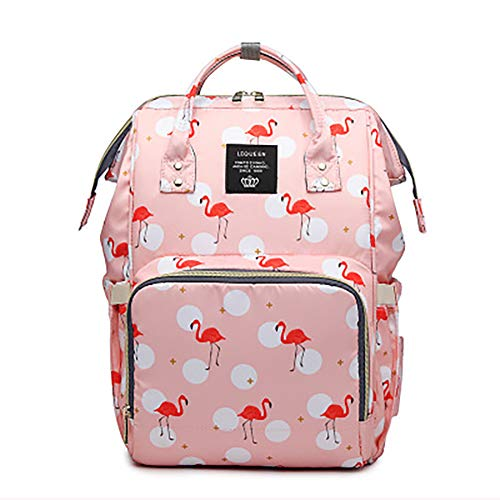 Starte Baby Diaper Bag for Mom/Dad,Flamingo Bag for Women Waterproof Travel Backpack,Spacious Tote Shoulder Bag Organizer,Pink