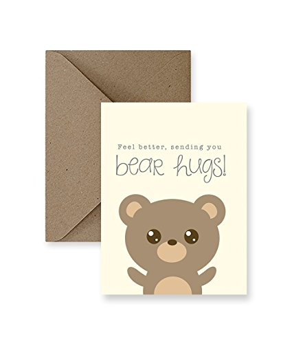 Feel Better Hug Bear - Feel Better, Sending You Bear Hugs Card