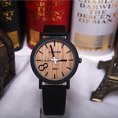 Watches, Simulation Wooden Relojes Quartz Men Watches Casual Wooden Color Leather Strap Watch Wood Male