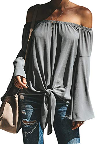 Asvivid Womens Off The Shoulder Blouses Long Flare...