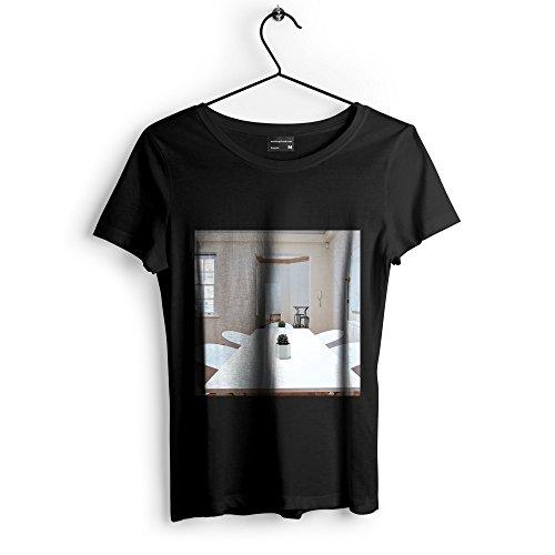 Westlake Art Unisex T-Shirt - Table Room - Graphic Tee - Black Adult Medium (e3t 412 325)