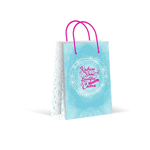 (Premium Snow Winter Wonderland Party Bags, Snowflakes Party Favor Bags, New, Treat Bags, Gift Bags, Goody Bags, Party Favors, Party Supplies, Decorations, 12 Pack)