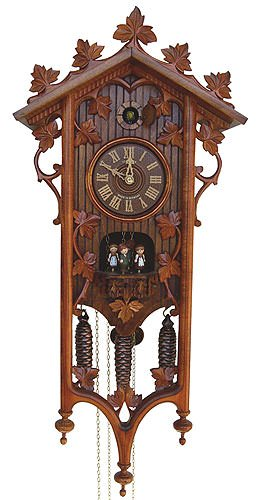 8-Day Black Forest House and Ornaments Cuckoo Clock