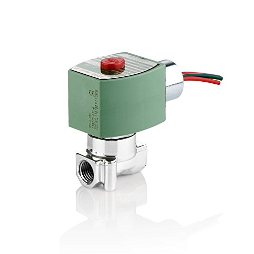 ASCO 8262H007-24/DC Stainless Steel Body Direct Acting General Service Solenoid Valve, 1/4
