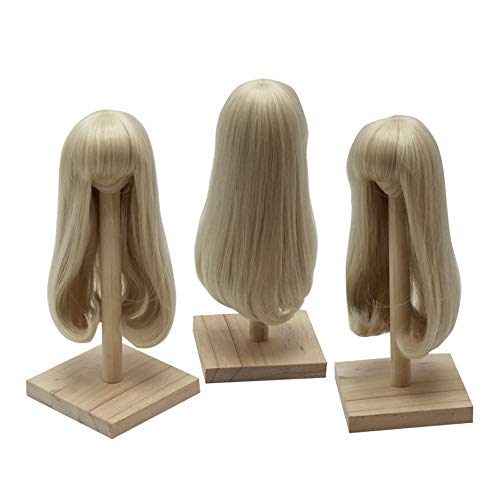 PHSFUBEL Wigs for BJD 1/3 1/4 1/6 Doll Pear Flower Roll Inside Long Section Hair Wig-Milk Gold - for 1/6 Doll