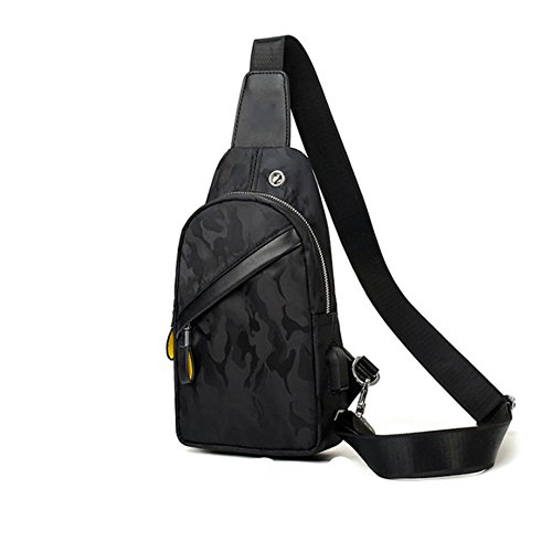 Shoulder The Korean Backpack Casual Version Bags Bag Male Messenger Men's Outdoor Men Canvas Chest Of Small Zq Fashion rH0r4q1