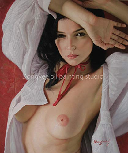 Nude Girl Art Prints Canvas Transfer from Original Oil Painting Charming Nude Girl Beauty Lady Female Nude fpr Home Wall ()