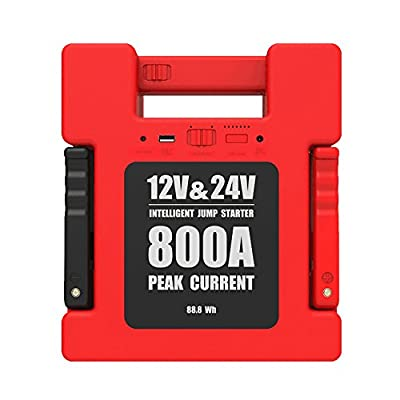 24000mAh Car Jump Starter 24V12V Car Truck Engineering Vehicle General Outdoor Emergency Rescue Starter Power Supply
