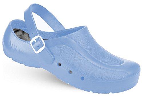 Schürr oP Hellblau mit et talon niveau avec Fersenriemen Bleu au sans unisexe du chaussures oRTHOClogs rp5w7Bqr