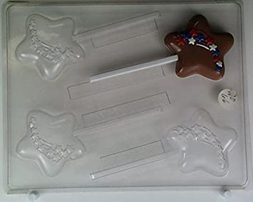 Star W/ Shooting Stars AO066 All Occasion Chocolate Candy Mold