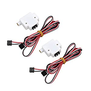 MonkeyJack 2 Pieces 3D Printer Part Material Detection Module with Wire for 1.75mm Filament Module Monitor Sensor by MonkeyJack