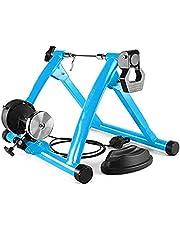 Woodtree - Bicicleta de ejercicio portátil con 6 marchas, resistencia magnética y bloqueo frontal