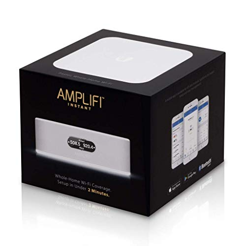 AmpliFi Instant WiFi Router by Ubiquiti Labs, Seamless Whole Home Wireless Internet Coverage, WiFi Router w/Touchscreen Display, 1 Gigabit Ethernet, 1 WAN Port, Ethernet Cable, Expandable Mesh System