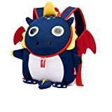 Yunqir Children's Backpacks Waterproof Candy Cartoon Dinosaur Anti-Lost Children's Bag Cute Kindergarten Baby Travel Backpack Suitable for 3-7 Years Old Baby (Color : Blue)