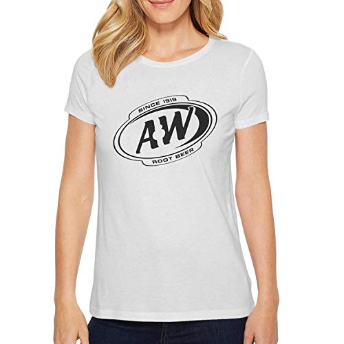 (ORYSJDGTS Round Collar T-Shirts Women A&W-Root-Beer-Since-1919- Vintage Top)