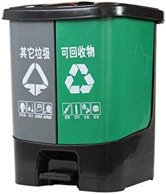 XINGZHE ゴミ箱 - 屋外スーパーマーケットレストラン大容量のプラスチックペダルゴミ箱の分類ゴミ箱はゴミ箱にリサイクルすることができますゴミ箱50L ごみ箱 (色 : B)