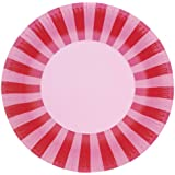 Paper Eskimo 12-Pack Party Plates, Pink Floss