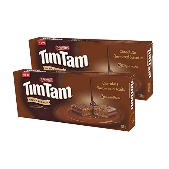 Arnott's Tim Tam Chocolate Coated Biscuits, 2 x 135 g