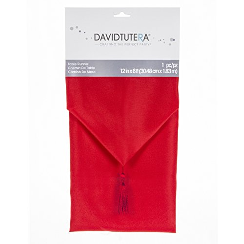 Darice – Plantilla para grabar en relieve David tutera Cloth Camino de mesa, color rojo