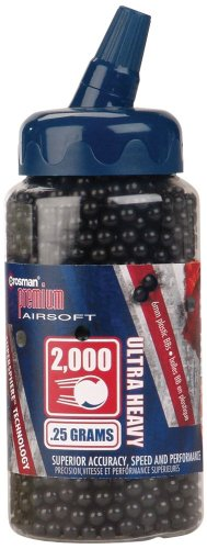 Crosman plastic airsoft 0 25g black
