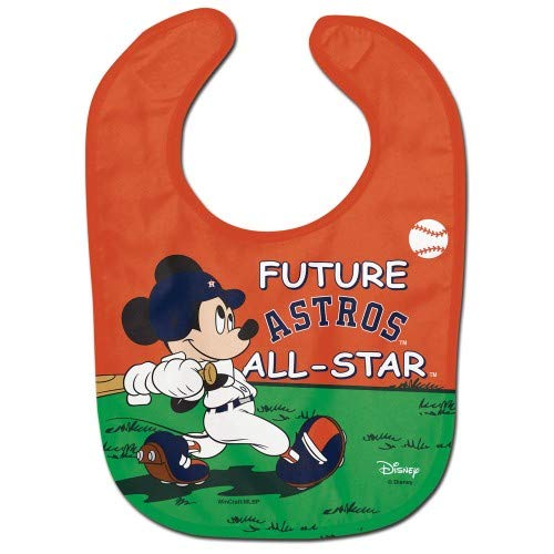 (MLB Houston Astros Mickey Mouse Future All Star All Pro Baby Bib)