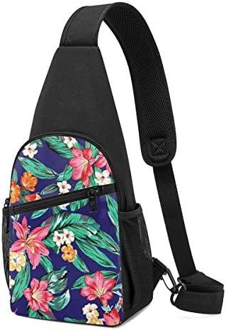 花柄 斜め掛け ボディ肩掛け ショルダーバッグ ワンショルダーバッグ メンズ 多機能レジャーバックパック 軽量 大容量
