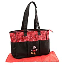 Disney Mickey Mouse Graffiti Print Triple Pocket Diaper Bag Tote