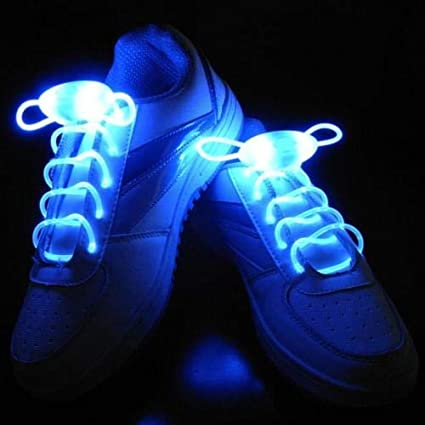 LED Flash Luminous Light Up Glow Strap Shoelace Shoe Laces For Party Disco New