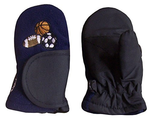 NIce Caps Baby Unisex Thinsulate Waterproof Easy On Wrap Closing Mitten