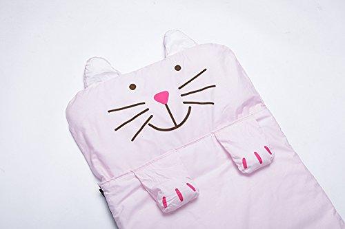 Lestore Kids Boy and Girl Big Cartoon Sleeping Bag Bunting Bags 140cm*60cm (D-pink cat) by Lestore (Image #4)