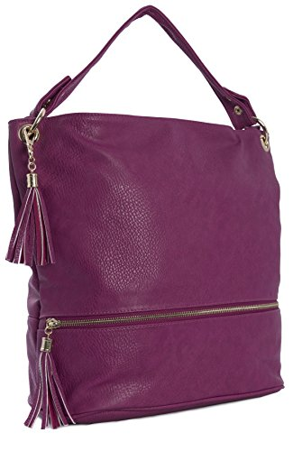 Vegan Shop Shoulder Handbag Womens Large Leather Size Handle 1 Design Tote Bag Top Violet Big Shopper Cpqw5xC