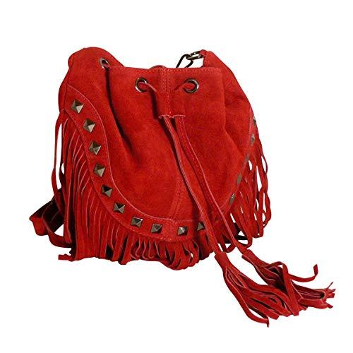 Le Inaya Bourse JU Rouge en amp;ZO cuir 6qBxSaI