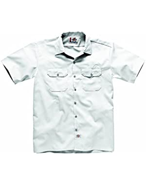 Short Sleeve Work Shirt - White Dickies1574WH Mens Classic Work Shirt