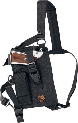 - Man Gear Alaska Ultimate Chest Holster - MGP1 Large Auto w/Mag Pouch
