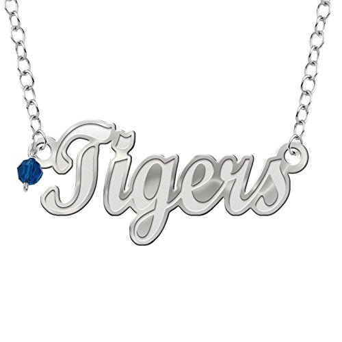 (Collegiate Jewelry Louisiana State University Tigers Script Necklace with Color Crystal Accent)