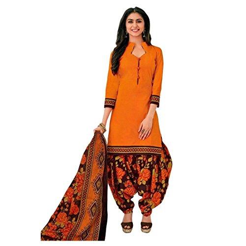 Printed Salwar (Designer Printed Cotton Patiala Salwar Kameez Readymade Suit Indian Dress Bollywood)