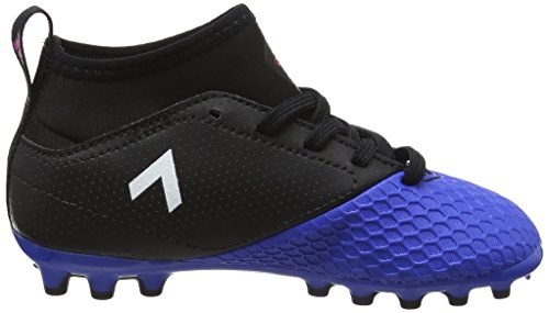 adidas Ace 17.3 AG J, Botas de Fútbol Unisex Niños Negro (Core Black/footwear White/blue)