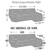 Jarrous Funda de Sofá Chaise Longue Elástica Modelo Montblanc, Color Beige (C/01), con Brazo Derecho (Mirándolo de Frente)