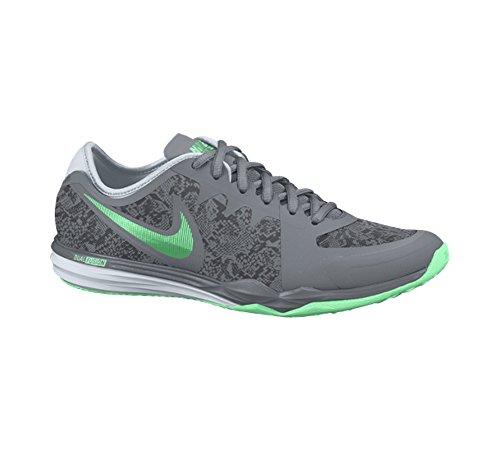 Nike Donna Dual Fusion Tr 3 Stampa Cross Trainer Grigio / Antracite / Platino / Verde
