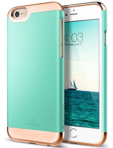 (Caseology for iPhone 6S case/iPhone 6 case [Savoy Series] - Stylish Sleek Premium Luxury Protective Glide Design Case for iPhone 6S / iPhone 6 - Mint Green)