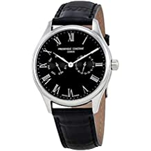 Frederique Constant Classics Black Dial Leather Strap Men's Watch FC-259BR5B6