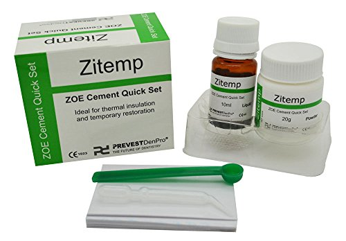 - Dental Quick Set Zinc Oxide - Eugonel Cement ZITEMP Powder & Liquid Kit