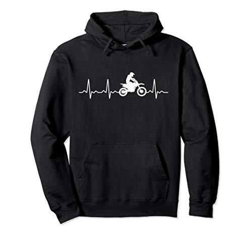 Funny Dirtbike Heartbeat Hoodie