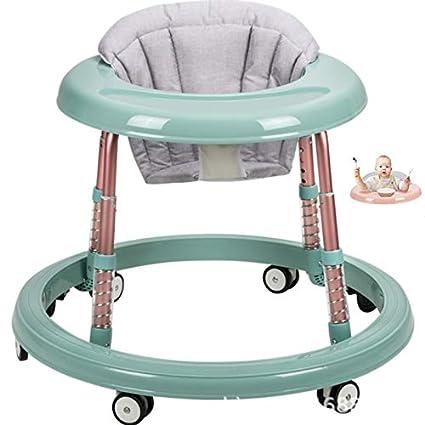 6//7-18 meses antiruedas altura ajustable shock absorption para beb/és y ni/ñas Pink Andador de beb/é multifuncional plegable