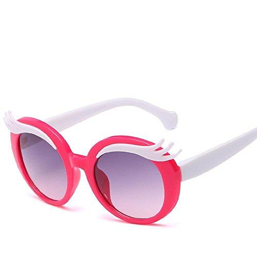 Aoligei Lunettes de soleil enfant lunettes de soleil enfants Cartoon lunettes UV mode miroir sourcils pour l'enfance E