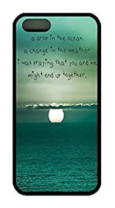 Characteristic Quote Theme Iphone 5 5S Case TPU Material