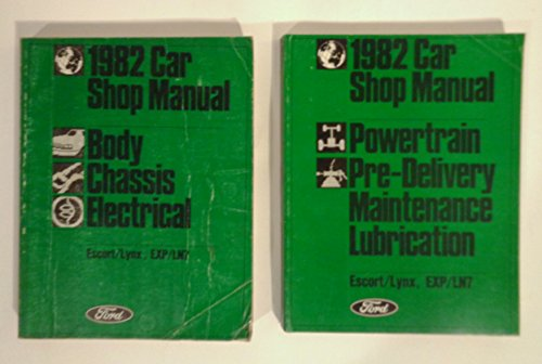 1982 Ford Escort and EXP Mercury Lynx and LN7 Repair Shop Manual Set -